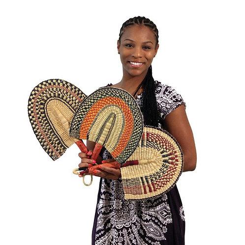 Burkina Faso Handwoven Fan