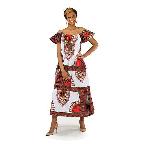 Traditional Print Dress