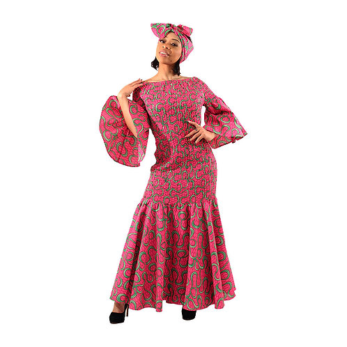 Ankara Smocked Dress