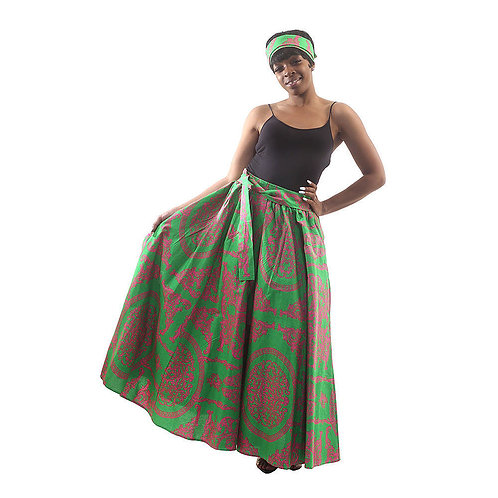 Ankara Maxi Skirts with Head Wraps
