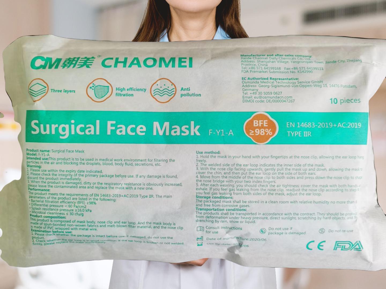 """""""CM"""" Surgical Mask IIR"""
