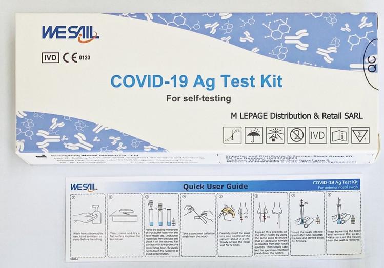 M LEPAGE Distribution - WeSail COVID-19 Autotest