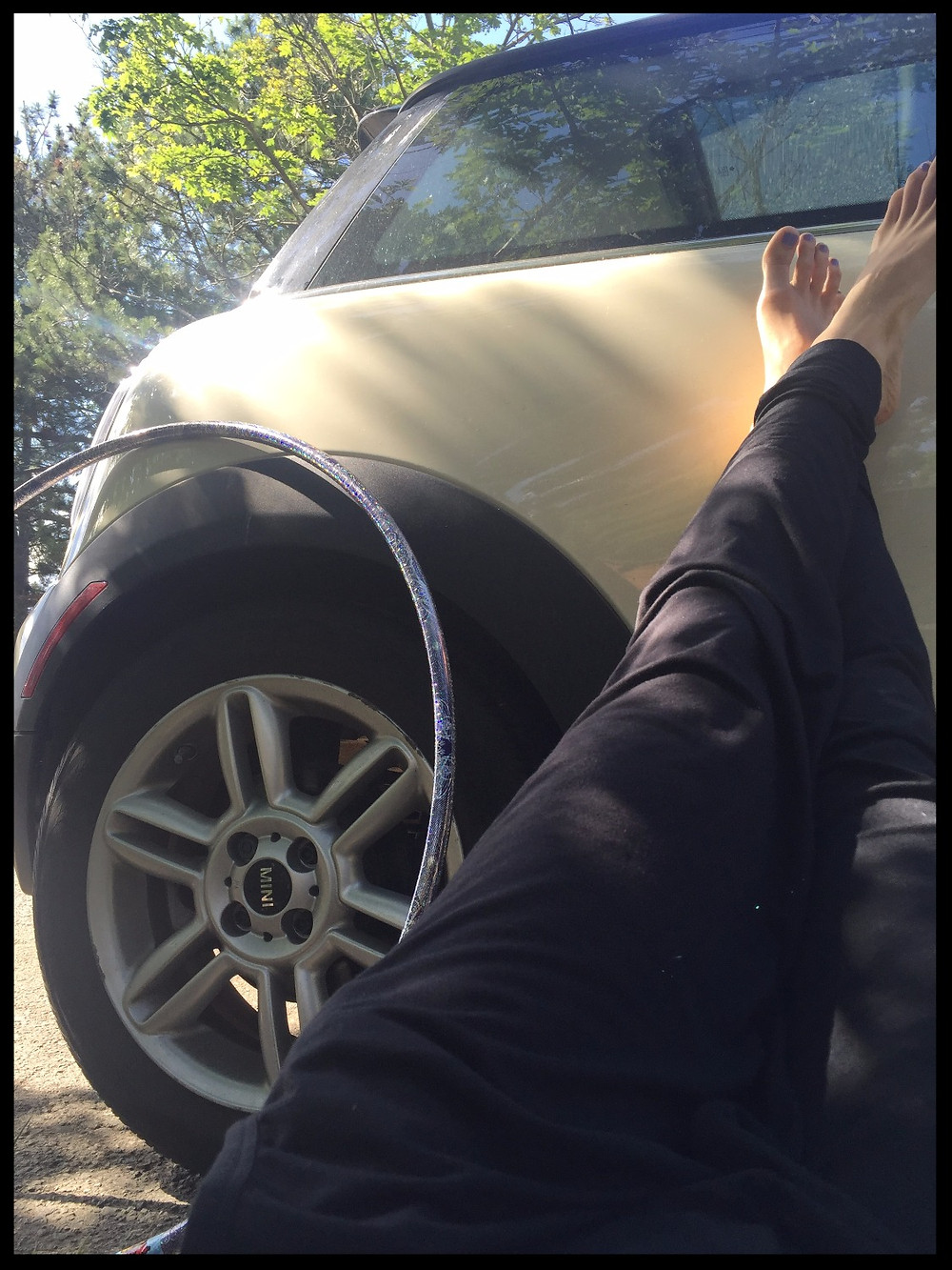 My body loves a good car panic...so sometimes I have to chill outside.