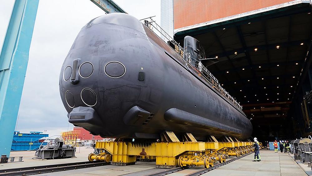 Tubos lanzatorpedos del submarino sueco Gotland