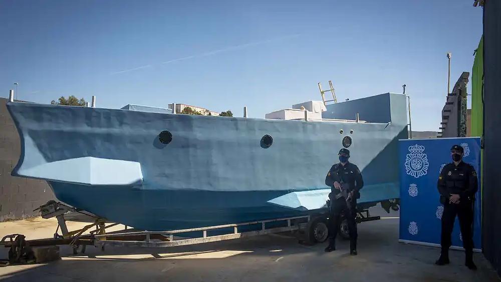 Narcosubmarino encontrado en Málaga