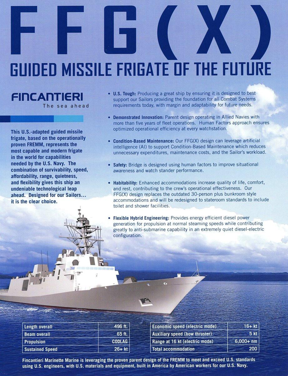 Las FFG-X buscan ser un combatiente de superficie relativamente barato para complementar a los destructores