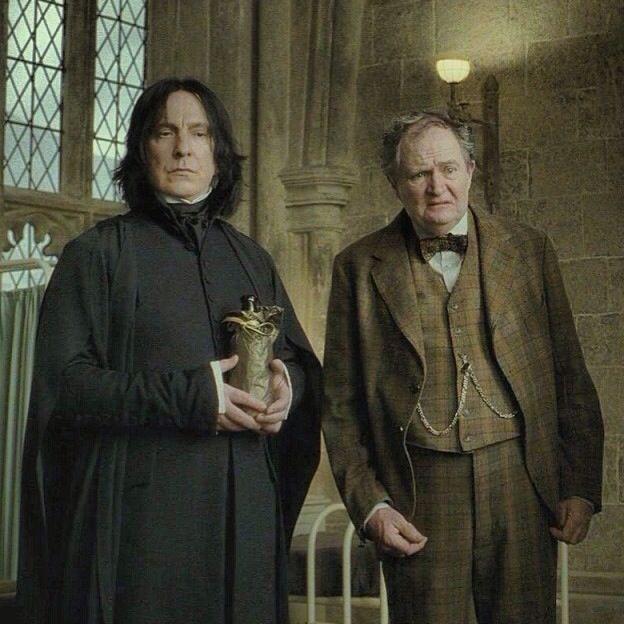 Snape y Slughorn, profesores de Pociones en Hogwarts
