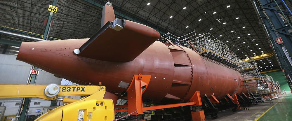 Submarino S-80 en el astillero de Navantia Cartagena