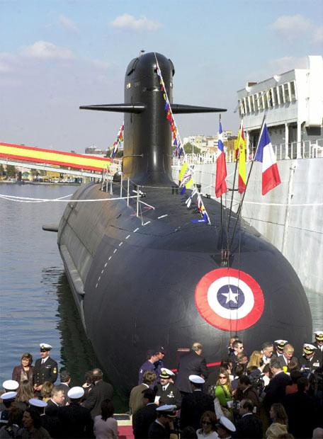 Botadura de un Submarino clase Scorpene construido en Navantia Cartagena