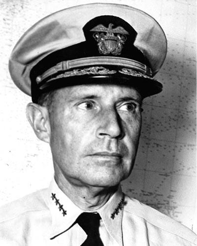 Raymons Spruance, almirante de la marina de Estados Unidos que participó en la batalla de Midway