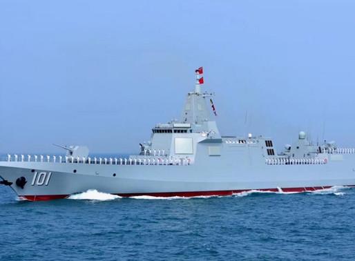 El último y enorme destructor de la marina china