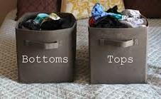 GYM CLOTHES STORAGE BINS