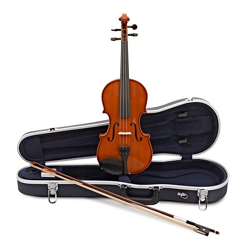 Violin Music Box w/Case Stand Musical Instrument