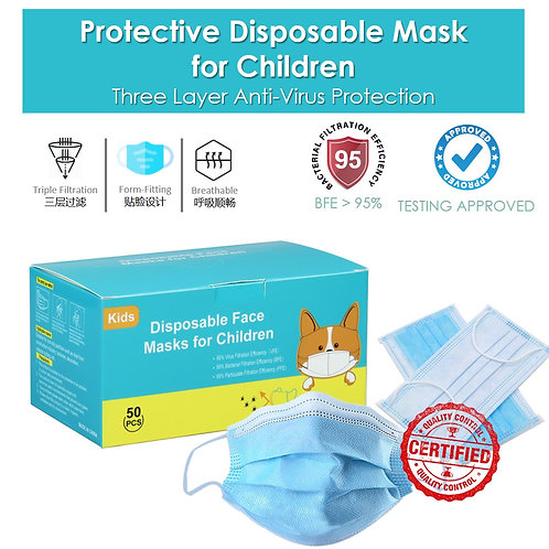 Children Protective Mask 50pcs I 3 Layers