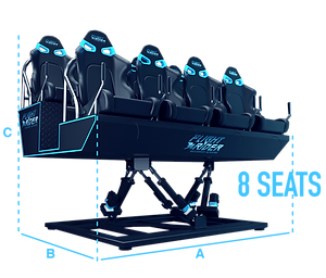 multiple solutions flight rider 8seats 3d 4d xd virtec attractions