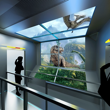 Cable car explorer Jurassic adventure 3d 4d xd virtec attractions