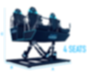 multiple solutions 4seats flight rider 3d 4d xd virtec attractions