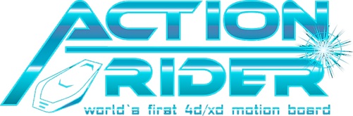 action rider motion board logo 3d 4d xd virtec attractions