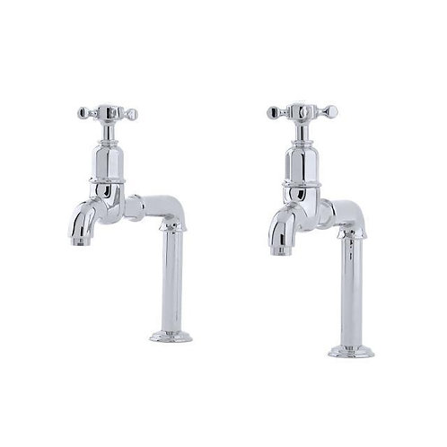 Mayan Deck Mounted Taps with Crosshead Handles