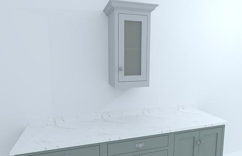 435mm Single Door Glazed Wall Cabinet