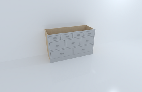 1500mm 9 Drawer Cabinet