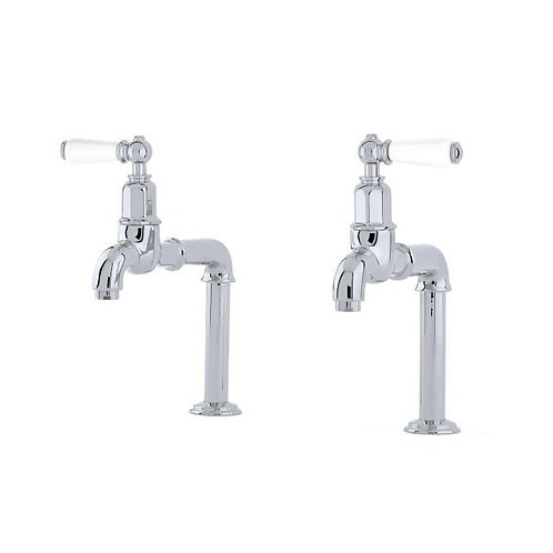Mayan Deck Mounted Taps with Lever Handles and Rinse