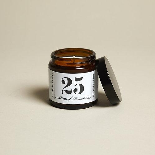 25 Days of December Jar Candle