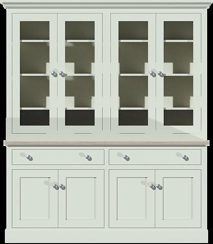 Sussex 6ft Glazed Dresser