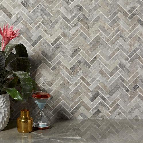 Palladio Marble Herringbone Mosaic