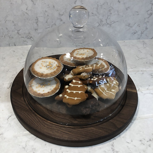 Walnut Base For Vienna Glass Dome 22.5cm