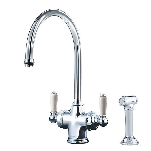 Parthian Dual Lever Sink Mixer with Filtration and Rinse