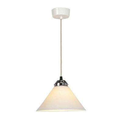 COBB SMALL PLAIN PENDANT LIGHT, WHITE