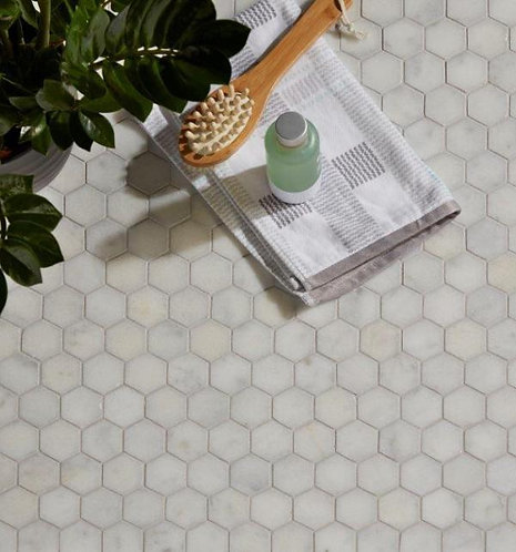 Long Island Marble Hexagon Mosaic