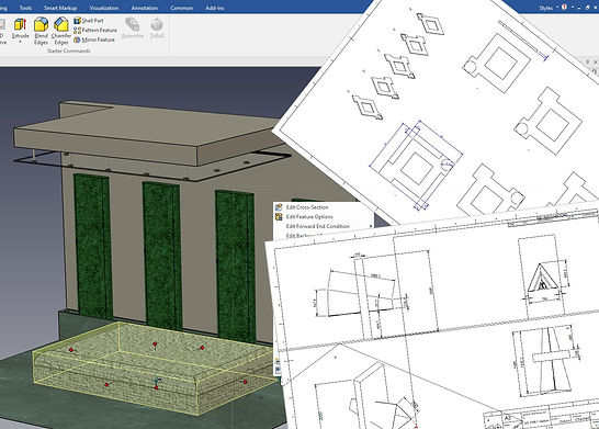 Fireplace design drawing