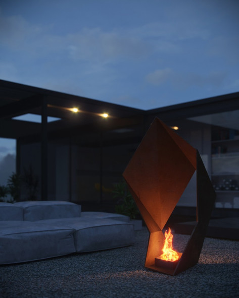 Iron Origami Fire Pit
