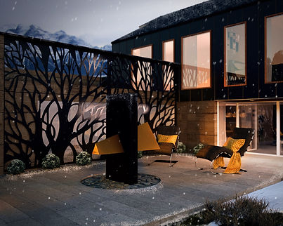 Bespoke outdoor fireplace