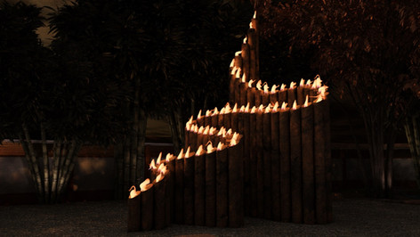 Japanese Style Fire Sculpture