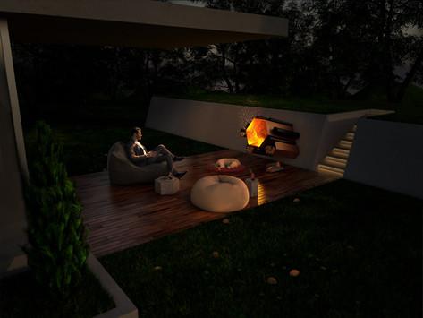 Unique hexagonal fire pit