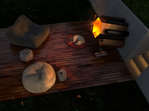 Hex fire pit Feature Fire