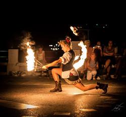 danza col fuoco performance