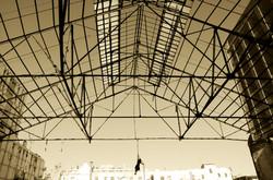 location spettacolare acrobata corda