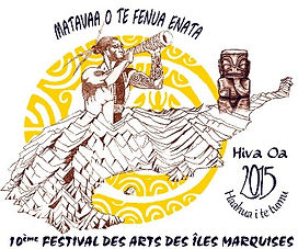 First logo of Festival des arts des îles Marquises, December 2015