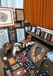 Detail of stand Galerie Caroline at The Amsterdam Traditional Jewelry and Textiles Fair, 25 september 2016