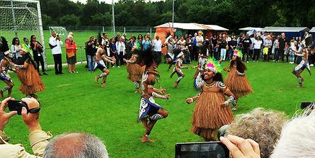 Performance of dance group Sanggar Seni Manyouri Byak from Byak Papua at PIFE 2017, Assen