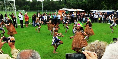 Optreden van dansgroup Sanggar Seni Manyouri Byak from Byak Papua tijdens PIFE 2017, Assen
