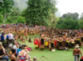 Presentation by Nuku Hiva at the ancient site of Ta'aoa, Tohua Upeke, 18 December 2015