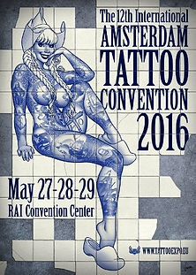 Affiche du Amsterdam Tattoo Convention 2016