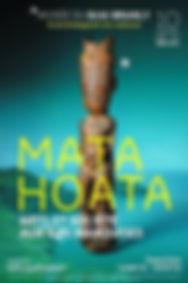 Poster of MataHoata exhibition, Paris, April 2016