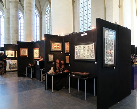 Stand van Galerie Caroline op de Exclusive Art Fair, Deventer, Oktober 2015