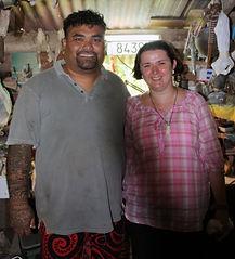 Teiki Barsinas en Caroline van Santen, Vaitahu - Tahuata